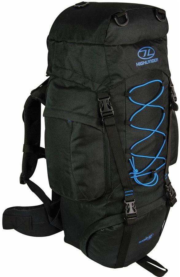 Highlander Rambler 66L backpack Zwart Blauw