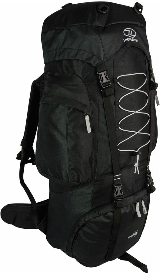 Highlander Rambler 88L backpack Zwart Grijs