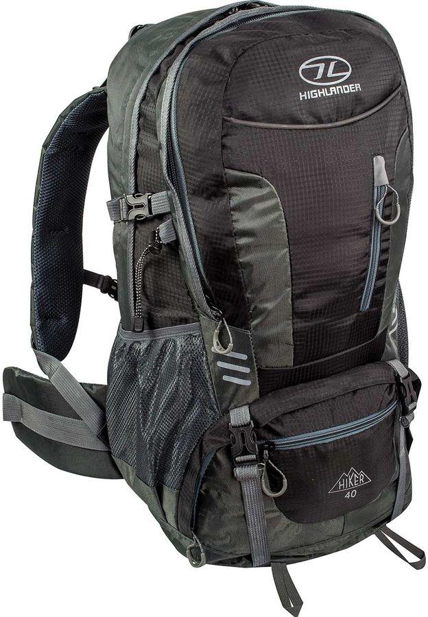 Highlander Hiker 40L backpack Zwart Grijs