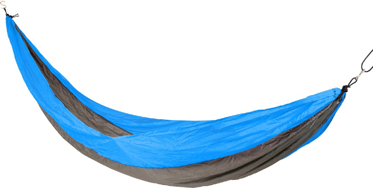 Bo Camp Travel Hammock Hover 1 persoons reishangmat Blauw Grijs