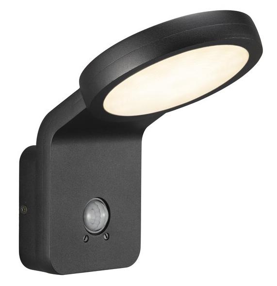 Nordlux Marina Flatline Pir Sensor led wandlamp buiten zwart