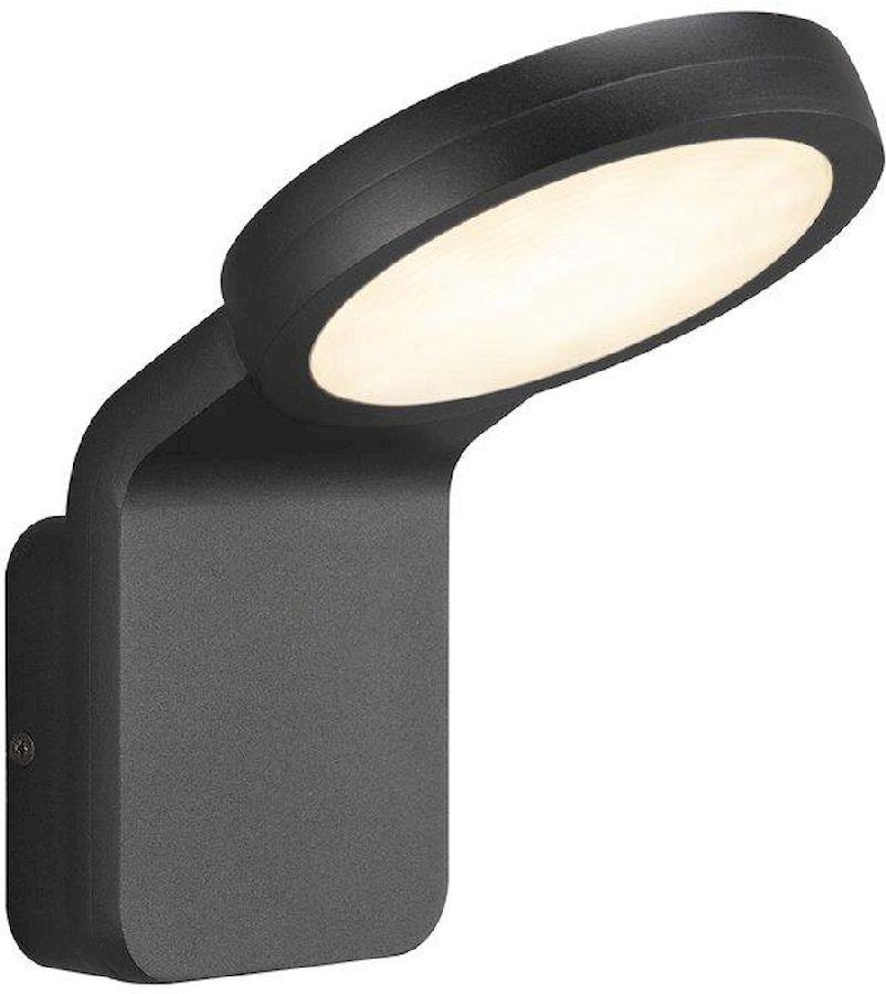 Nordlux Marina Flatline Twilight Sensor led wandlamp buiten zwart
