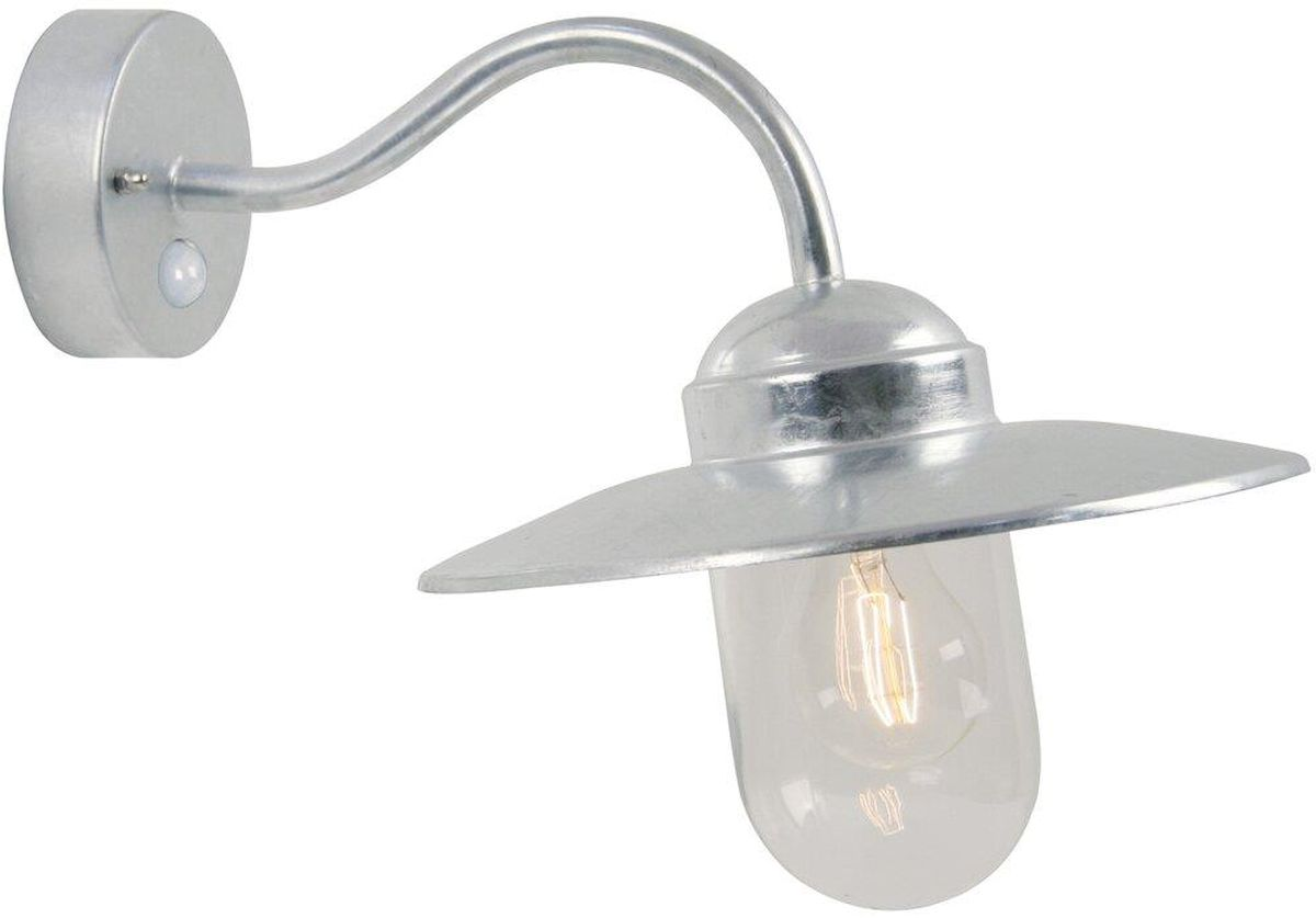 Nordlux Luxembourg Sensor E27 wandlamp buiten gegalvaniseerd