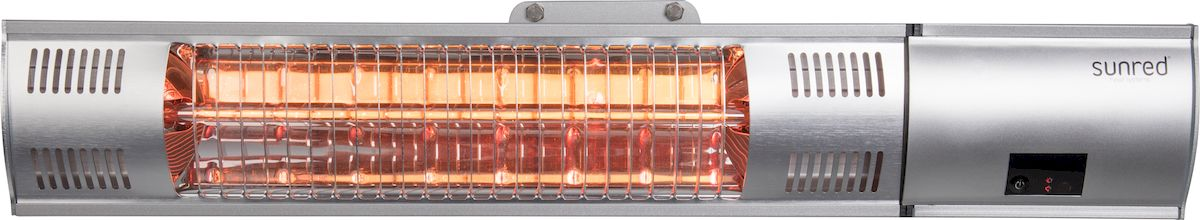 Sunred Heater Royal Diamond Silver Wall 2000 terrasverwarmer