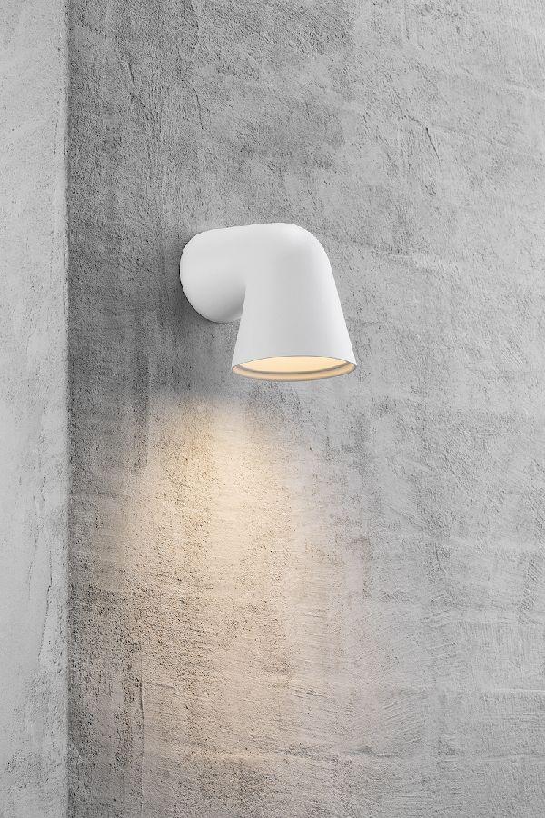 Nordlux Front Single wandlamp buiten - wit