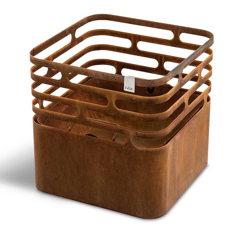Höfats Cube vuurkorf bruin